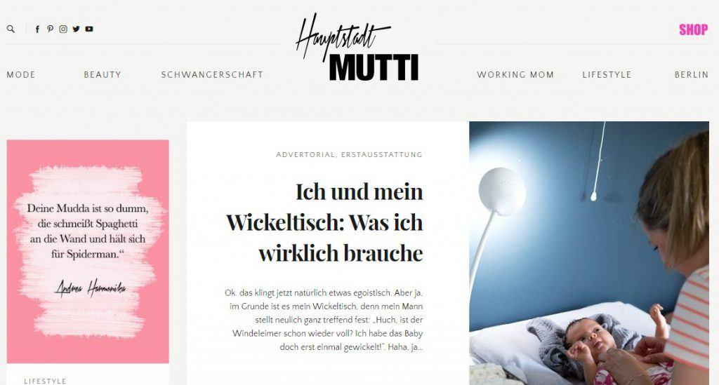 hauptstadtmutti.de Blogger Bestenliste