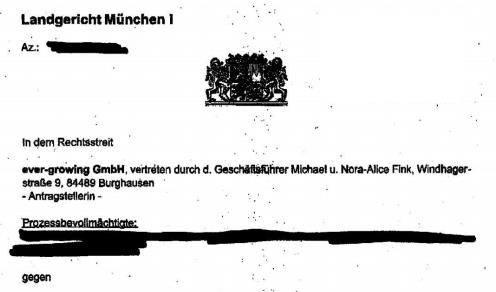 Gerichtsbeschluss Landgericht München I