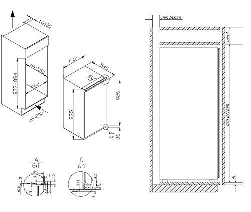 Amica EKS 16171 Kühlschrank A 875 Cm Höhe 146 KWhJahr 105 L