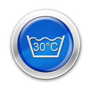 Ein Wäschesymbol für die Wahl des richtigen Waschprogramms bei einer Waschmaschine