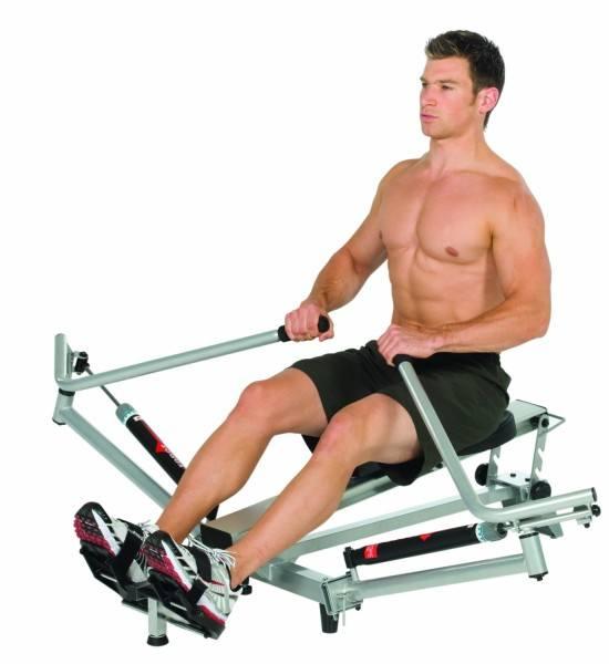 Das Rudergerät von Hammer eignet sich zum Muskelaufbau