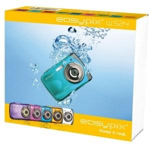 Verpackung der Unterwasserkamera Easypix W524-l