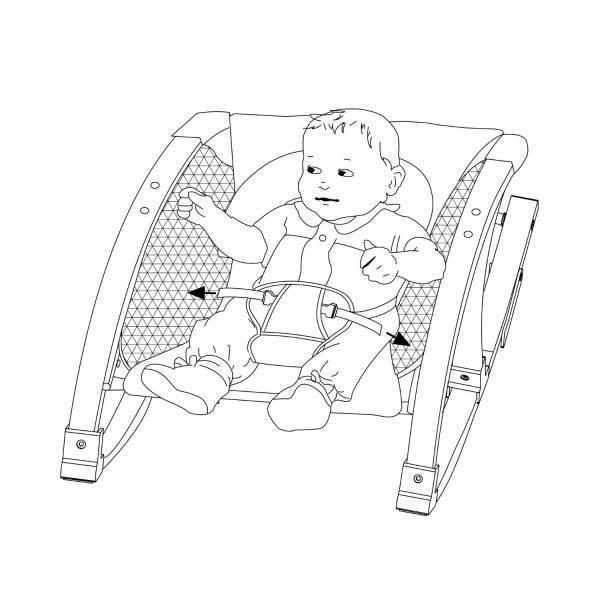 Baby in der Babywippe von Roba