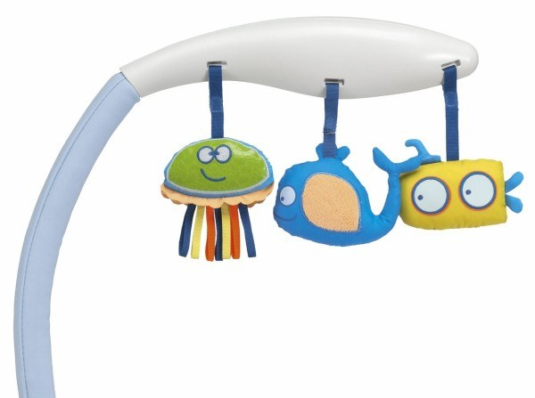 Das Stoffspielzeug der Babywippe hat in unserem Test punkten können!