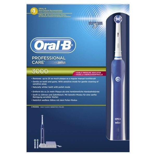 Die Verpackung der elektrischen Zahnbürste ProfessionalCare 3000