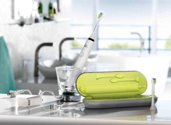 Die Sonicare Zahnbürste macht sich besonders gut im Badezimmer