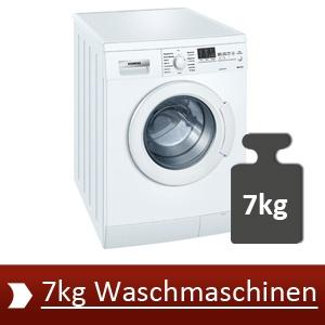 Auf dieser Seite finden Sie die Bestenliste der 7kg Waschmaschinen
