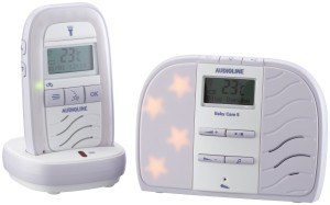 Die Eltern- und Babyeinheit des Audioline Baby Care 5 Babyphone