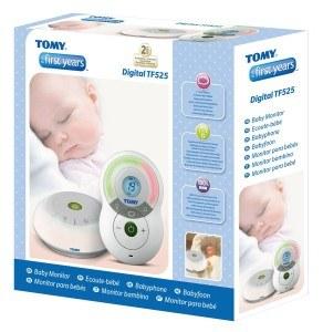 Die Verpackung des Babyphone Tomy Y7574EU Babyphone Digital TF525