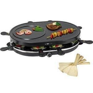 Der Clatronic Raclette Tisch Grill mit 8 Pfännchen belegt einen soliden siebten Platz in unserer Testreihe