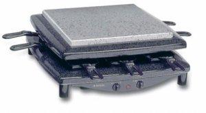 Die Grillplatte des Steba RC 3 plus Gourmet-Raclette kann runtergeklappt werden.