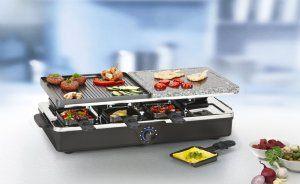Mit dem Tristar RA-2992 Raclette-Steingrill kann man leckere Speisen zaubern