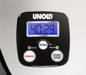 Display der Eismaschine Unold 48816 de Luxe