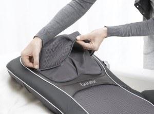 Die Beurer MG 290 Shiatsu-Sitzauflage bietet eine praktische Tasche.