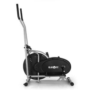 Klarfit ORBIFIT BASIC Hometrainer ist durch Bodenrolle leicht zu transportieren.