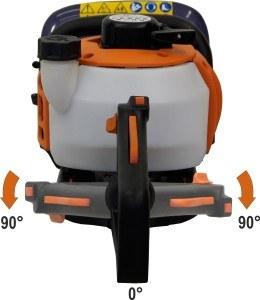 Die Rückansicht der Atika HB 60 N Benzin-Heckenschere