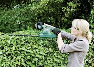 Die Bosch AHS 50-16 Heckenschere eignet sich weniger für kräftige Hecken