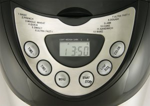 Das Display des RTC Edelstahl Brotbackautomat BME 10