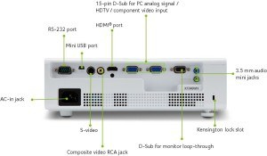 Beamer Acer-3D-WXGA-DLP-Projektor Rückseite