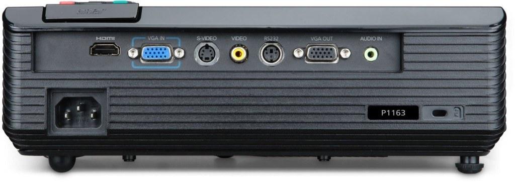 Beamer Acer-P1163-3D-SVGA-DLP-Projektor-Anschlüsse