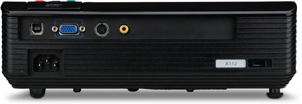 Beamer Acer-X112-DLP-Projektor-Anschlüsse