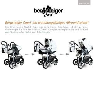 Allroundtalent Kombikinderwagen Bergsteiger Capri 3 in 1
