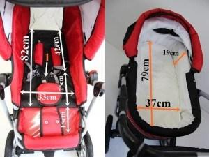 Babywanne Kombikinderwagen CORAL 3 in 1 Komplettset