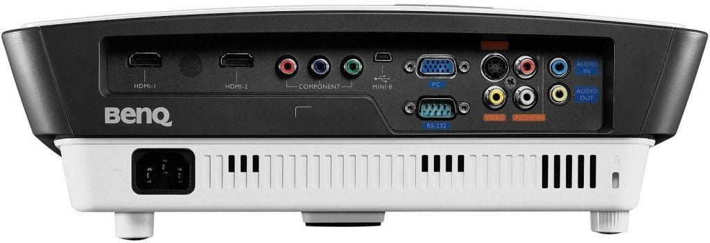 Beamer BenQ-W750-DLP-Projektor-Anschlüsse