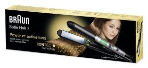 Glätteisen Braun Satin Hair 7ST 710 Haarglätter Verpackung