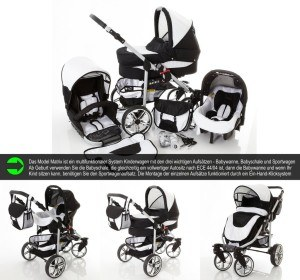 Multifunktionales System Kombikinderwagen Chilly Kids Matrix II 3 in 1