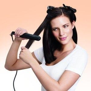 Glätteisen Philips-HP8333-00-Haarglätter-Salon-Straight-Care Anwendung