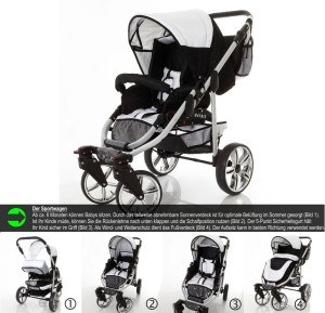 Sportwagen Kombikinderwagen Chilly Kids Matrix II 3 in 1