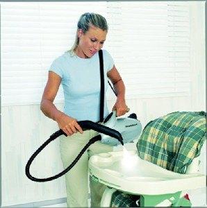 Hochstuhl Reinigung Hand-Dampfsauger Domo DO230SR Dampfreiniger