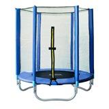 Das SixBros. SixJump 1,40 M Gartentrampolin Blau Trampolin | Mit Sicherheitsnetz - T140/1535