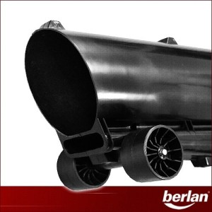 Das Rohr des Berlan Benzin Laubsauger BBLS 1000
