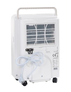 Die Rückseite des comfee Luftentfeuchter MDF2-20DEN3 (max. 20L in 24h)