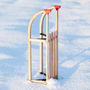 Der Ultrasport Rodelschlitten Davos macht im Schnee eine gute Figur