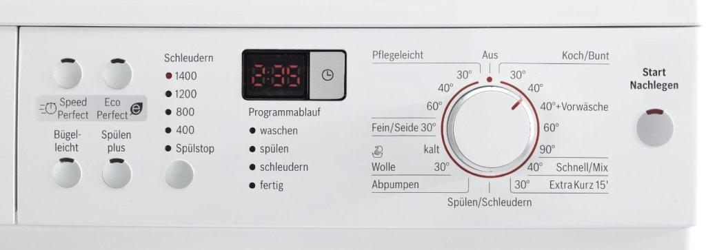 Bosch WAQ28321 Waschmaschine Bedienfeld