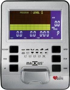 Der Computer des Crosstrainers Maxxus CX 6.1 von verfügt über 17 Programme.