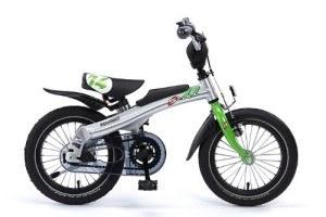 Fahrrad RENNRAD 14 von coolproducts silber/grün Modell 2018