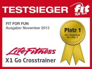 Der Life Fitness Crosstrainer X1 Go wurde Vergleich-Testsieger 2017.