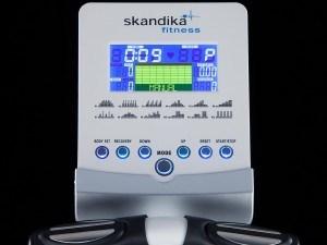 Der Computer des Crosstrainers von Skandika überzeugt.
