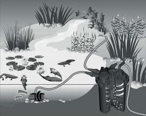 Der Aqua-Tech PondoMax 5000 ist für Teich bis 10000 Liter geeignet.