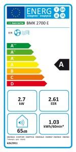 Energieklasse Bavaria BMK 2700 E Lokales Klimagerät