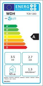 Energieklasse Klimagerät WDH-TCB1263