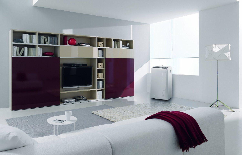 Im Raum aufgestellt DeLonghi PAC N 81 Mobiles Klimagerät weiß