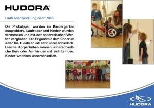 Laufradentwicklung HUDORA 10903 - Laufrad One2Run new generation weiß/gelb