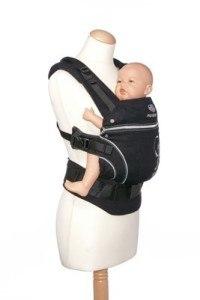 Manduca Babytrage mit Tragebeispiel