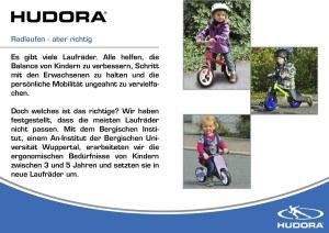 Radlaufen HUDORA 10903 - Laufrad One2Run new generation weiß/gelb