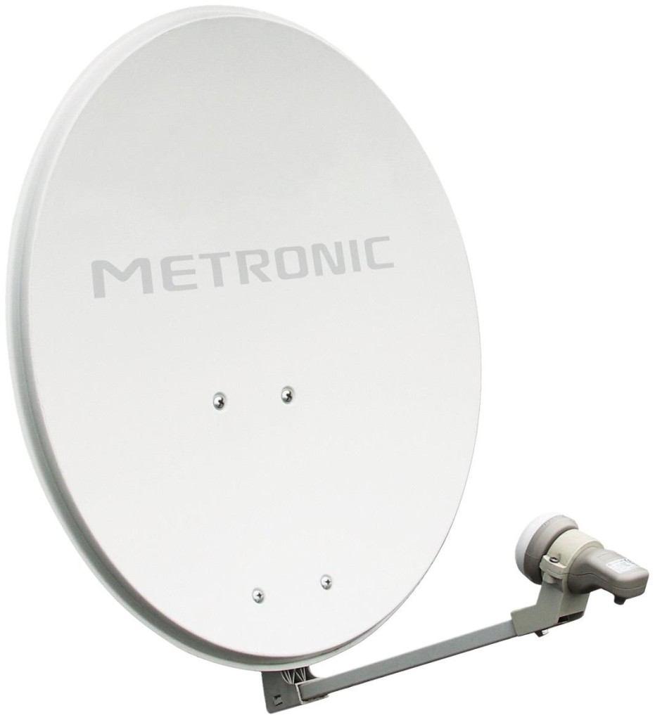Weisse Sat Antenne von Metronic im Test
